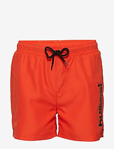 HMLBAY BOARD SHORTS - swimshorts - spicy orange