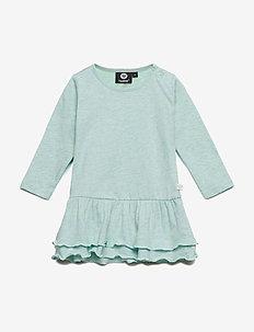HMLGOLDIE DRESS L/S - dresses - birds egg green