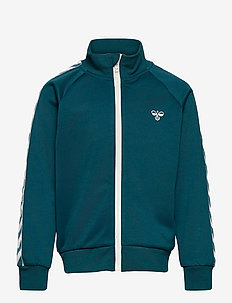HMLKICK ZIP JACKET - sweaters - blue coral