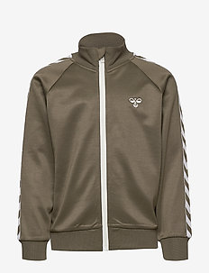 HMLKICK ZIP JACKET - IVY GREEN