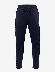 HMLKICK PANTS - sweatpants - black iris/gold