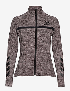 HMLJASMINE ZIP JACKET - BURNISHED LILAC MELANGE
