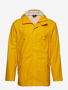 hmlROONIE RAIN COAT - LEMON CHROME