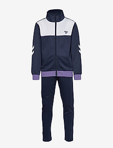 hmlSPIN TRACK SUIT - BLACK IRIS/ASTER PURPLE