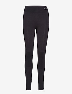 HMLCLEA SEAMLESS TIGHTS - running & training tights - black melange