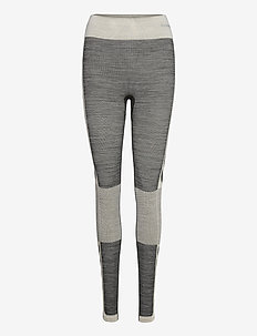 HMLCLEA SEAMLESS TIGHTS - running & training tights - magnet melange