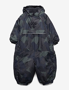 hmlMOON SNOWSUIT - snowsuit - dark navy/olive night