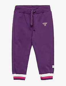 hmlLAUREN PANTS - GRAPE ROYAL
