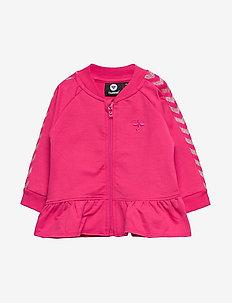 hmlMARGRET ZIP JACKET - sweatshirts - raspberry sorbet