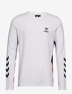 hmlNORTH T-SHIRT L/S - WHITE