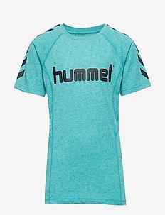 hmlPITTER T-SHIRT SS - LAKE BLUE
