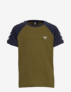 hmlSVEND T-SHIRT S/S - OLIVE NIGHT