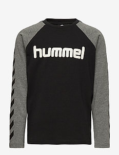 hmlBOYS T-SHIRT L/S - dlugi-rekaw - black