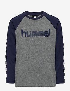 hmlBOYS T-SHIRT L/S - long-sleeved t-shirts - black iris