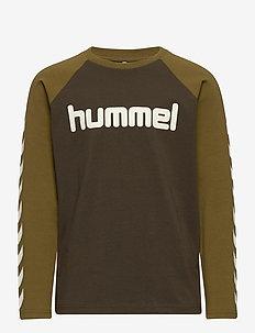 hmlBOYS T-SHIRT L/S - long-sleeved t-shirts - black olive