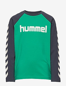 hmlBOYS T-SHIRT L/S - logo - deep green