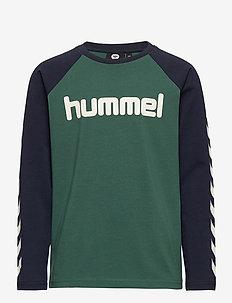 hmlBOYS T-SHIRT L/S - langärmelige - mallard green