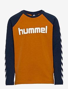hmlBOYS T-SHIRT L/S - long-sleeved t-shirts - pumpkin spice