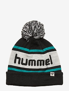 hmlTOWN BEANIE - hats - black/lake blue