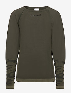 hmlLUKA SEAMLESS T-SHIRT L/S - OLIVE NIGHT