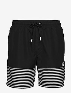 hmlCHASE BOARD SHORTS - badehosen - black