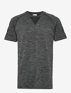 hmlWES SEAMLESS T-SHIRT S/S - sports tops - dark grey melange