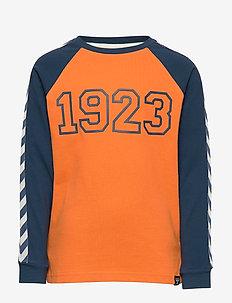 hmlLUCKY T-SHIRT LS - sweat-shirt - apricot buff