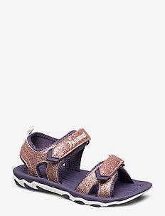 SANDAL SPORT GLITTER JR - sandals - gold