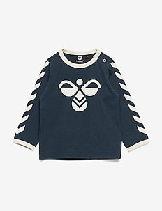 hmlFLIPPER T-SHIRT L/S - long-sleeved t-shirts - blue nights