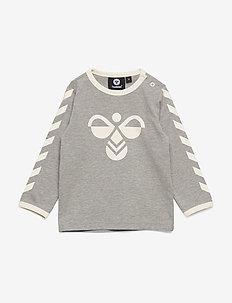 hmlFLIPPER T-SHIRT L/S - langærmede t-shirts - grey melange
