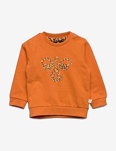 hmlLIME SWEATSHIRT - sweatshirts - orange ochre