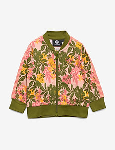 hmlFRIDA ZIP JACKET - sweatshirts - coral pink