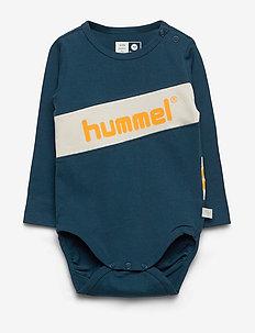 hmlCLEMENT BODY L/S - długie rękawy - majolica blue