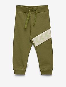 hmlCLEMENT PANTS - sweatpants - pesto