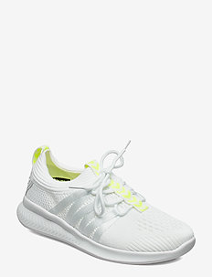 TRIM - treningssko - white/safety yellow
