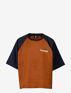 hmlMELODY T-SHIRT SS - logo - autumnal