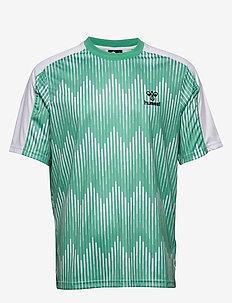 hmlBLAZE T-SHIRT S/S - t-shirts - marine green