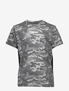 hmlRUSSEL T-SHIRT S/S - krótki rękaw - wet weather