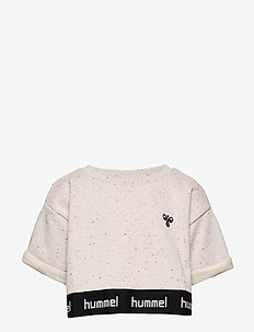 hmlSIA CROPPED TOP - CEMENT