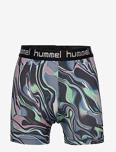 hmlMIMMI TIGHT SHORTS - GREEN ASH