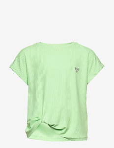 hmlLUCY TOP - short-sleeved - green ash