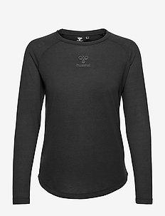 hmlVANJA T-SHIRT L/S - bluzki z długim rękawem - black