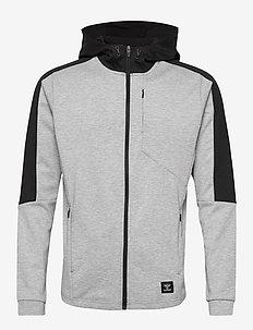 hmlTROPPER ZIP HOODIE - basic sweatshirts - grey melange