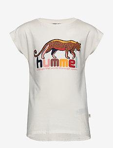 hmlINA T-SHIRT S/S - logo - whisper white