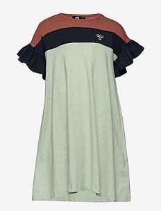 hmlANNA DRESS S/S - dresses - blue nights