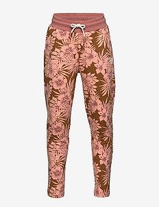 hmlLINE PANTS - spodnie dresowe - cedar wood