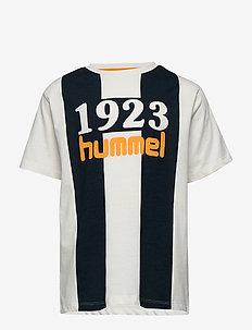 hmlHUNTLY T-SHIRT S/S - logo - whisper white