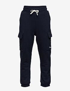 hmlLEO PANTS - spodnie dresowe - blue nights