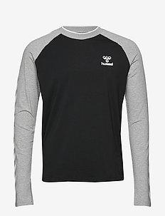 hmlMARK T-SHIRT L/S - langermede topper - black