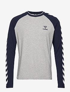 hmlMARK T-SHIRT L/S - bluzki z długim rękawem - grey melange